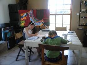 Girls at Art Class 2015.02.07